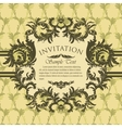 Vintage invitation card with antique floral frame vector image vector image