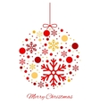 Merry Christmas color ball ornament vector image vector image