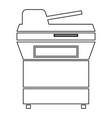 multifunction printer or automatic copier icon vector image
