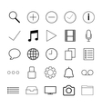 Thin line icons for Web vector image vector image