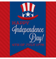 Independance day background vector image vector image