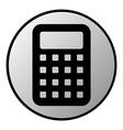 Calculator button vector image
