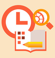 time diary studies vector image