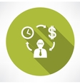 Time exchange to money vector image