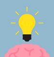 brain get idea vector image