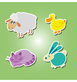 icons with domestic animal kids drawing vector image