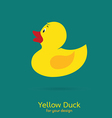 Yellow duck vector image vector image