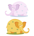 Funny pink elephants vector