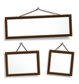 Empty frames for your presentation vector image