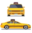 Taxi car on white vector image