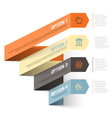 Bank theme abstract infographics template vector image