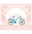 bicycle poster vector image