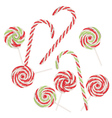 Candy Canes Set4 vector image