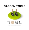 Garden tools icon in different style vector image