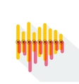 Infographics with yellow and red overlapping bars vector image