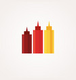 ketchup hot sauce and mustard squeeze bottles vector image