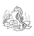 seahorse design in ocean vector image