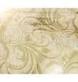 Vintage Background with Floral Pattern vector image