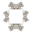 silhouette square frame decorative ornament swirl vector image