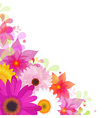 Flower Background With Gerbers And Leafs vector image vector image