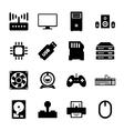 Computer hardware icon vector image vector image