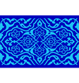 blue artistic ottoman pattern series fifty six vector image
