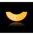 slice of melon vector image vector image