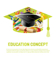 Online Education Poster vector image vector image