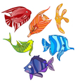 rainbow emotional fish vector image vector image