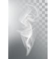 Smoke aroma steam vector image