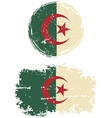 Algerian round and square grunge flags vector image