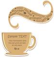 Coffee sticker vector image