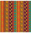Ethnic tribal seamless pattern vector image