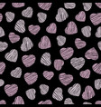 abstract heart texture valentine day background vector image