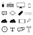 computer icon set in black color vector image