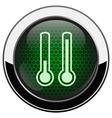 Metallic green honeycomb termometer icon vector image