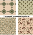 Vintage Japan-style Seamless Patterns set vector image