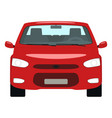 cartoon red car front view vector image