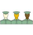 Servicemen vector image vector image