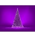 abstract purple christmas tree vector image vector image