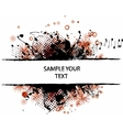 grunge border winter red vector image