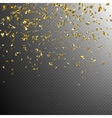 Golden confetti isolated on dark EPS 10 vector image