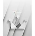 crown 3d paper design vector image