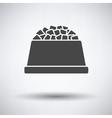 Dog food bowl icon vector image