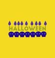 flat icon on stylish background candle halloween vector image