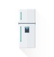 flat style white kitchen refrigerator vector image