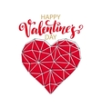 Geometric Mosaic Heart Template for Valentines vector image