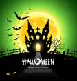 Happy Halloween green background vector image