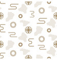 japanese seamless nature pattern in gold vector image