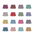 Set of colored shorts vector image